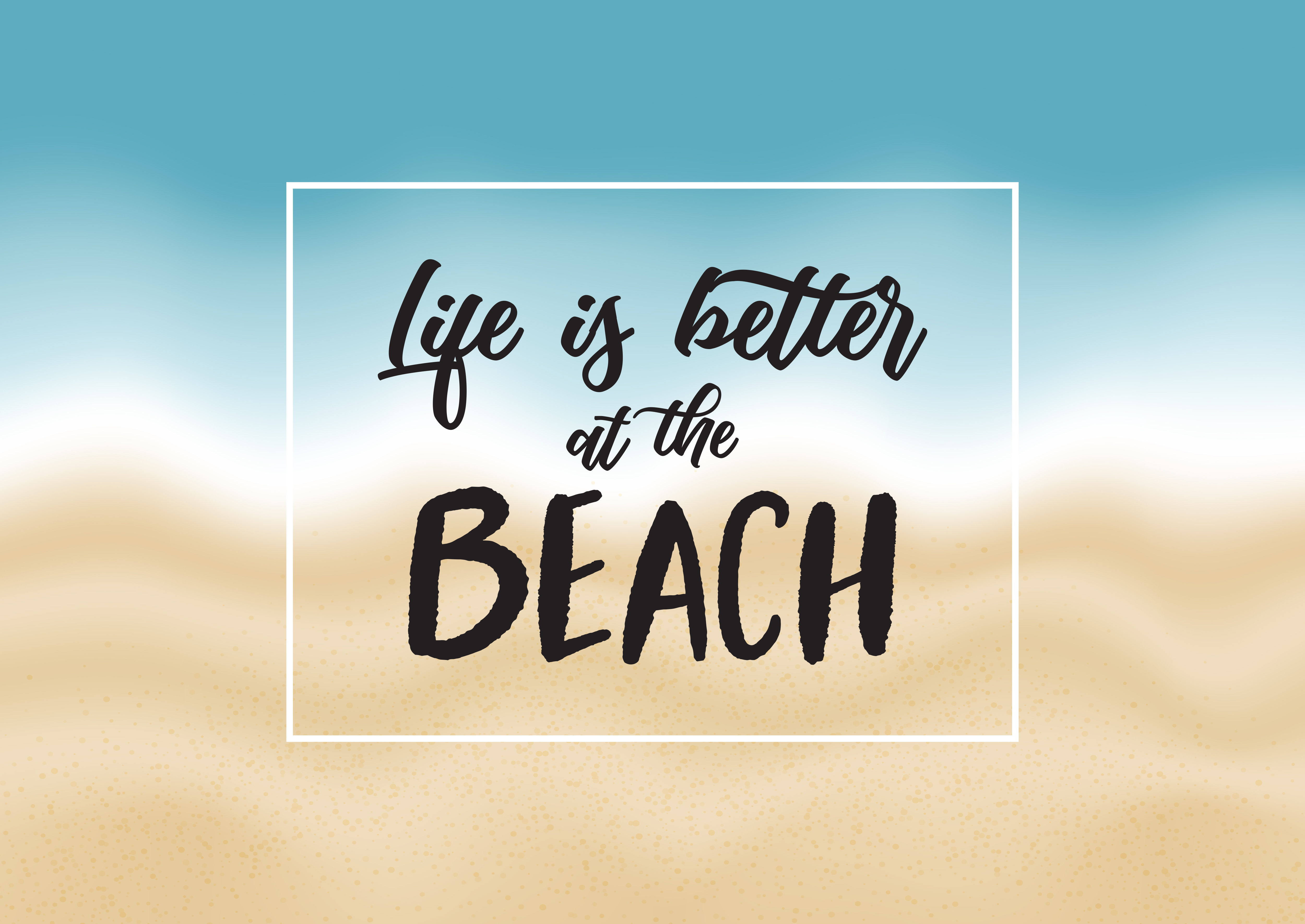 Inspirational beach quote - Download Free Vectors, Clipart ...