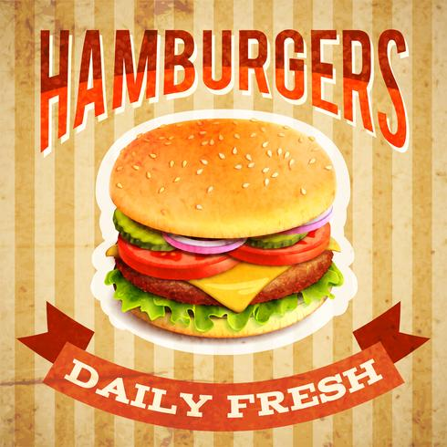 Cartaz do fast food vetor