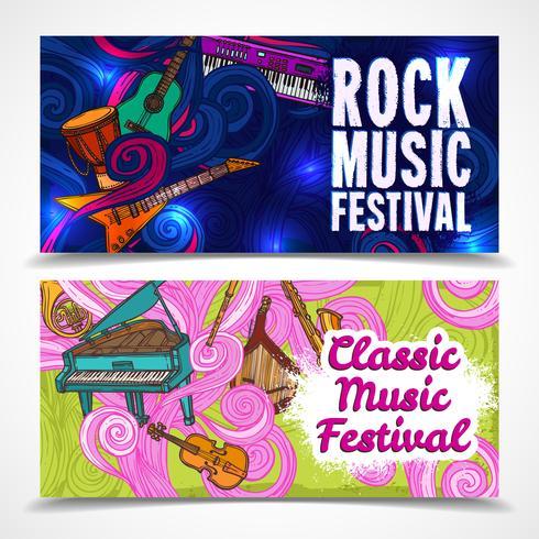 Banner musicali orizzontali