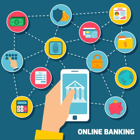 Concepto de banca en linea