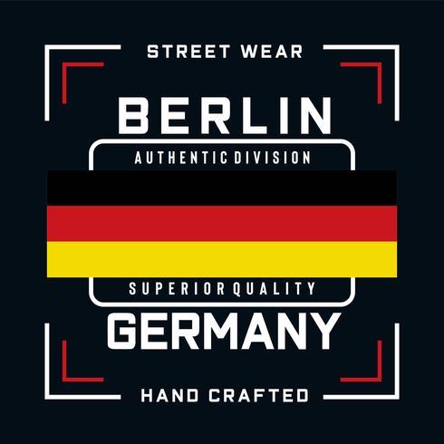 t-shirt à motif typographie de division authentique berlin