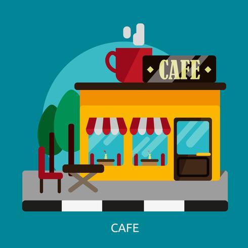 Cafe Conceptual Ilustración Diseño vector