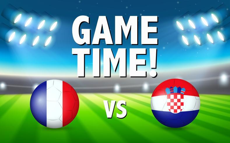 Tempo de jogo frança vs croácia