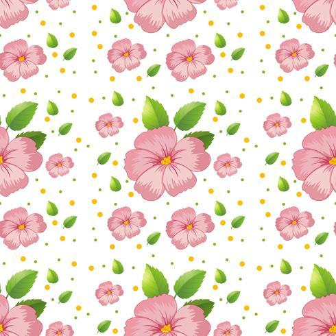 Seamless pink hibiscus wallpaper