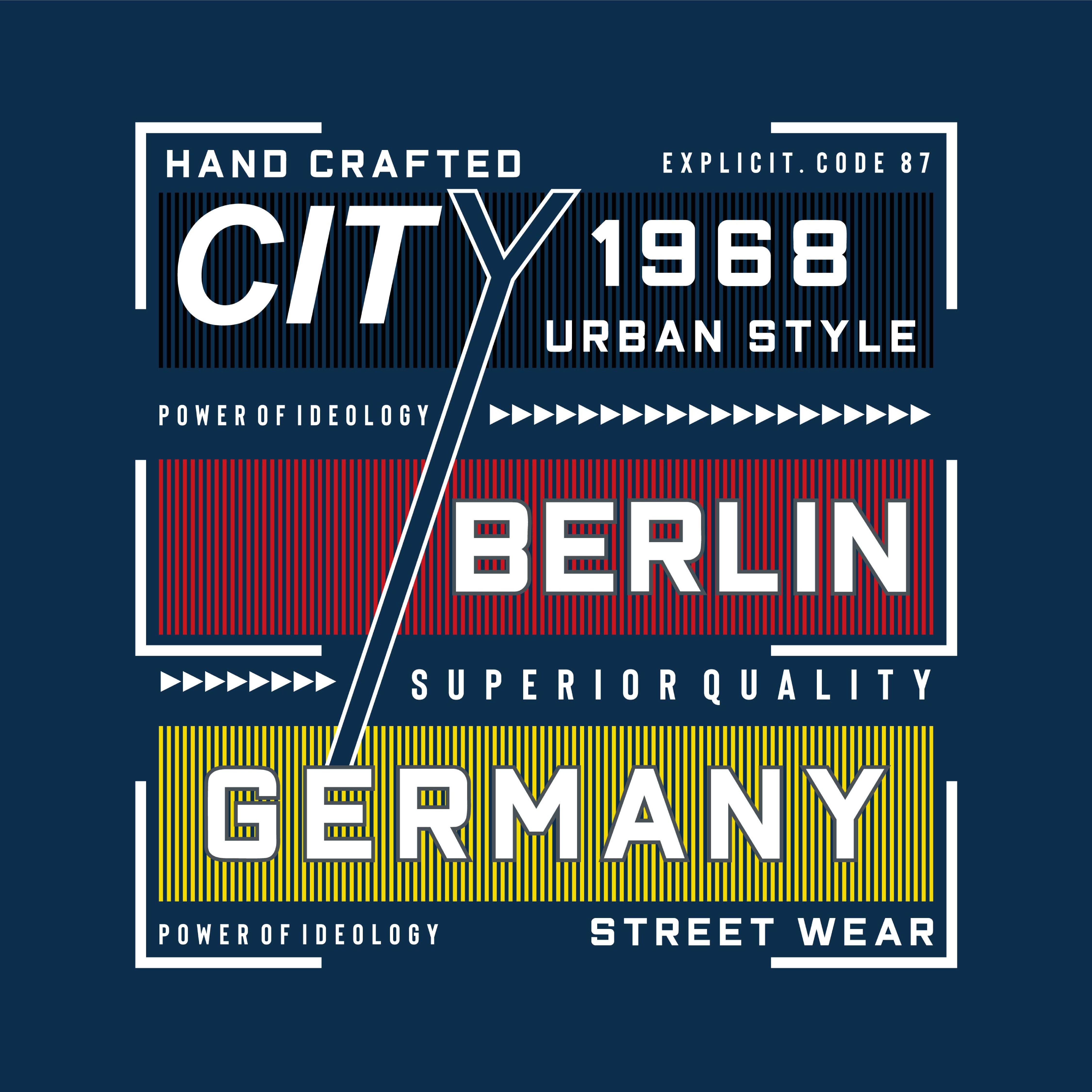 Berlin Images Typography Design Tee