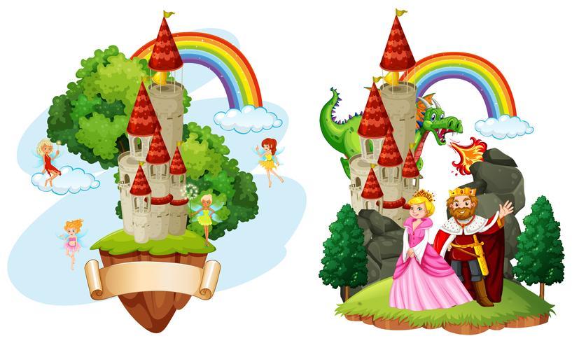 Vackert Fairy Tale Castle vektor