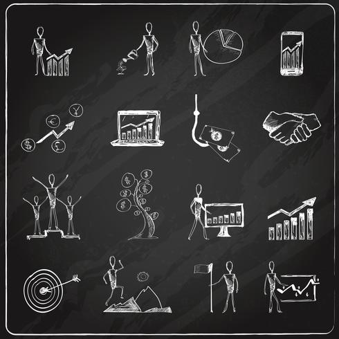 Lavagna di doodle di affari