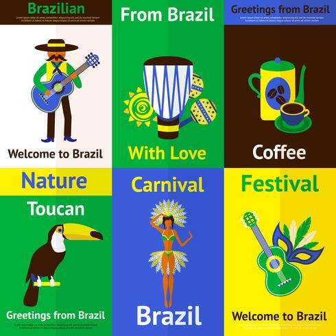 Brasilien Mini Poster Set
