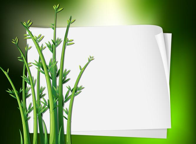 Border template with green plant vector