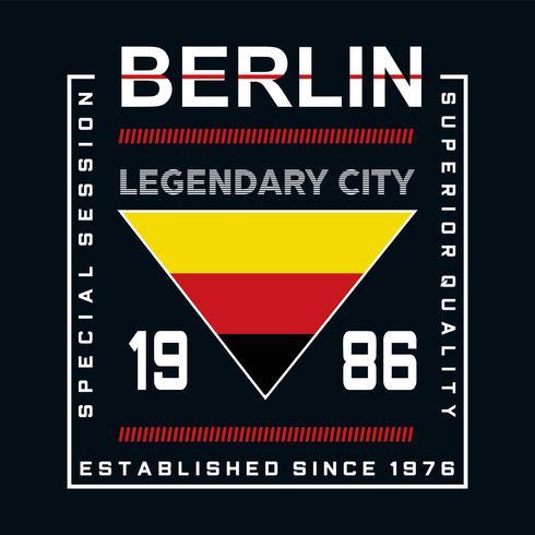 grafica elegante di tipografia leggendaria della città di Berlino