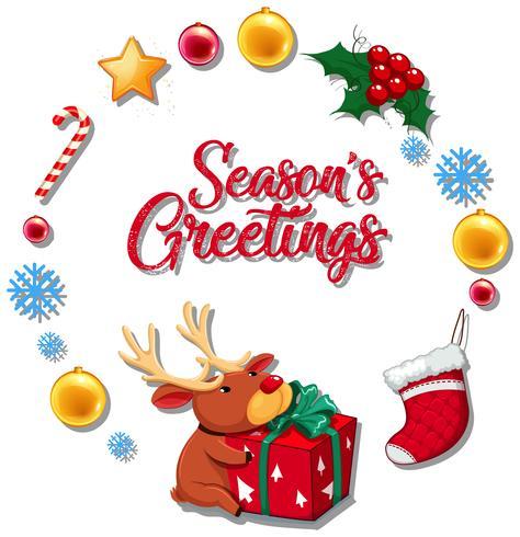 Season greetings concept card