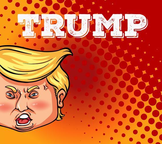 El presidente estadounidense Trump en cartel vector