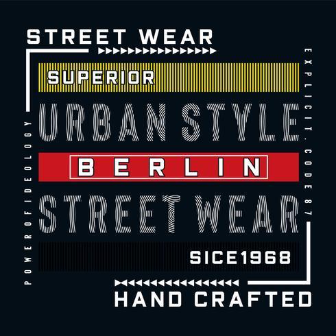 berlijn stedelijke stijl typografie vectorillustratie
