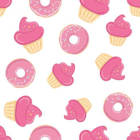 Modèle sans couture avec des bonbons roses