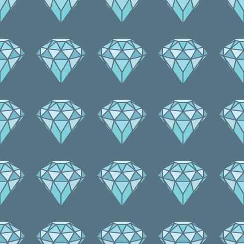Padrão sem emenda de diamantes azuis geométricos em fundo cinza. Design moderno de cristais hipster.