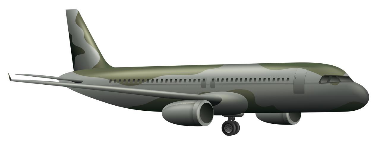 Avión del ejército sobre fondo blanco