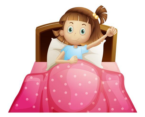 Meisje in bed