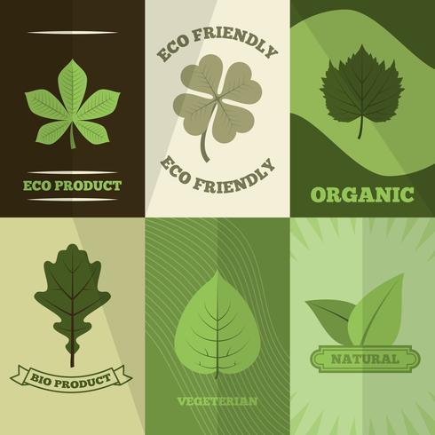 Impresión del cartel de los iconos de la ecología vector