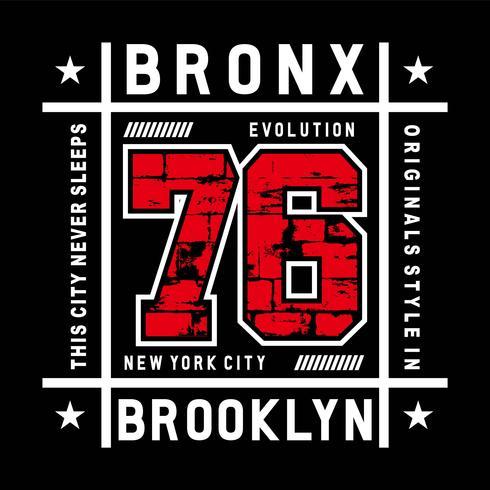 illustration vectorielle de bronx evolution typographie pour t-shirt