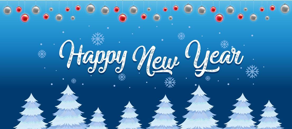 Feliz año nuevo plantilla