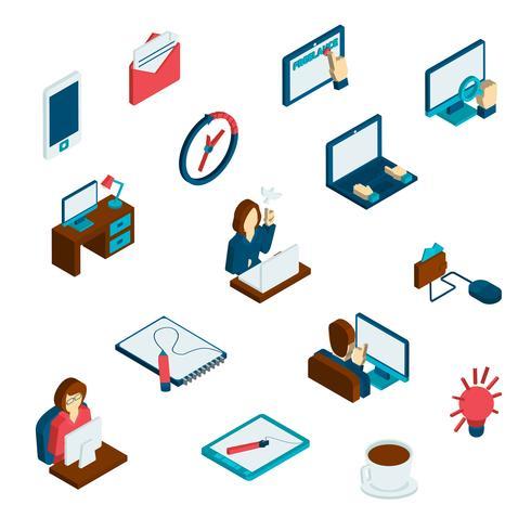 Freelance Isometric Icons Set