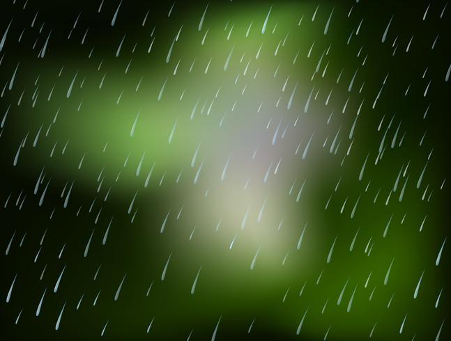 Diseño de fondo con lluvia vertiendo vector