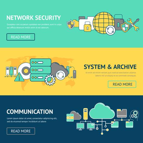 Ensemble de bannières réseau