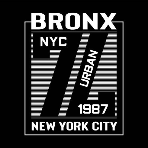 Bronx New York Typography design tee voor t-shirt