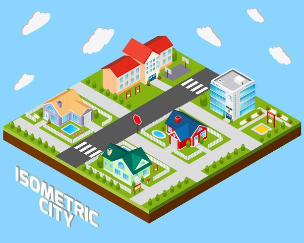 Proyecto isometrico de la ciudad