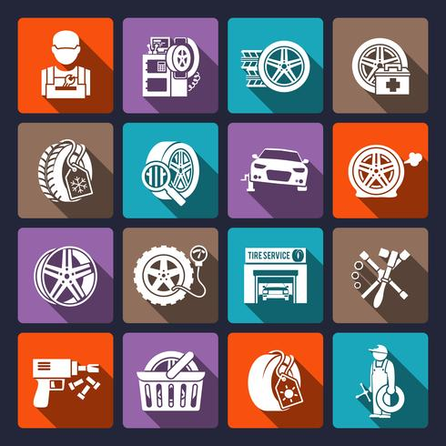 Tire service icon white