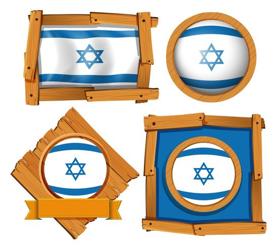 Conception d'icône pour le drapeau d'Israël