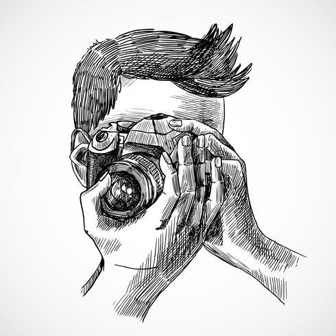 Portrait esquisse photographe
