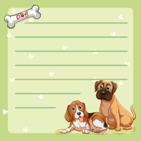 Modello di carta con cani carini