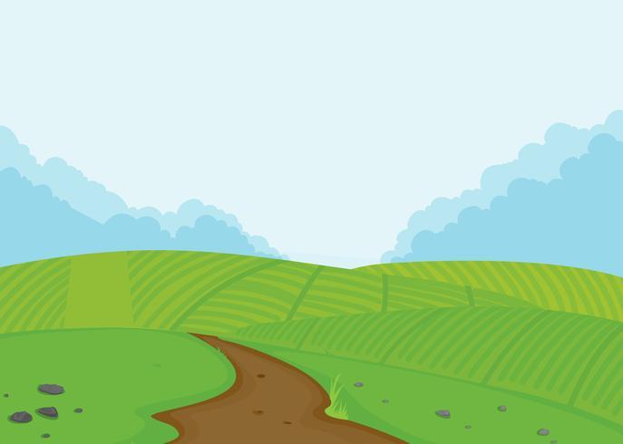 Een achtergrond van het landbouwgrondlandschap