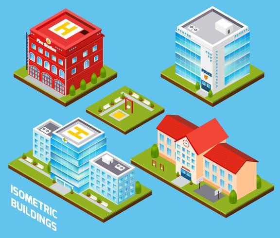 Set di edifici governativi vettore