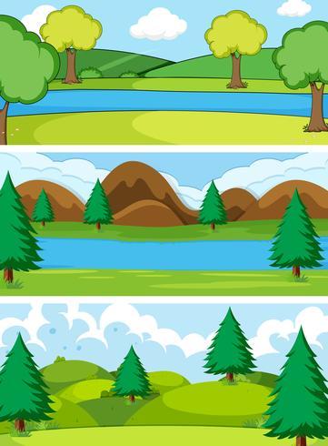 Set di sfondo natura semplice