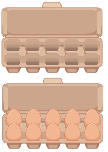 Set di uova in scatola