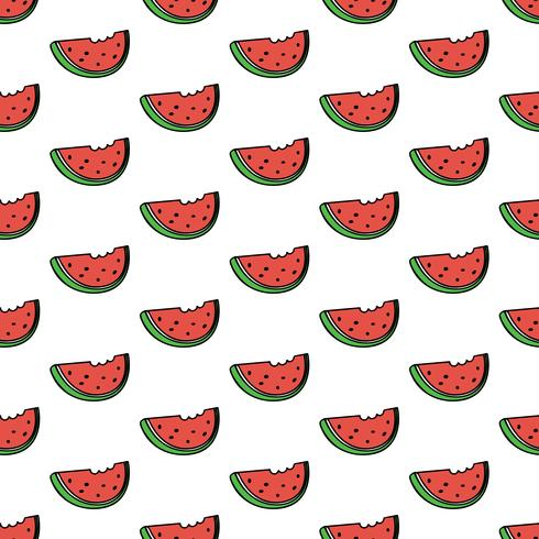 Seamless pattern background with watermelon slice
