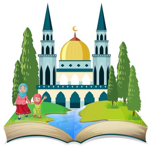 Un tema musulmano a libro aperto