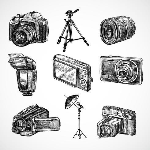 Cameraschets pictogrammen instellen