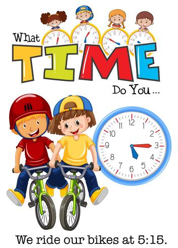 Children ride bike at 5:15