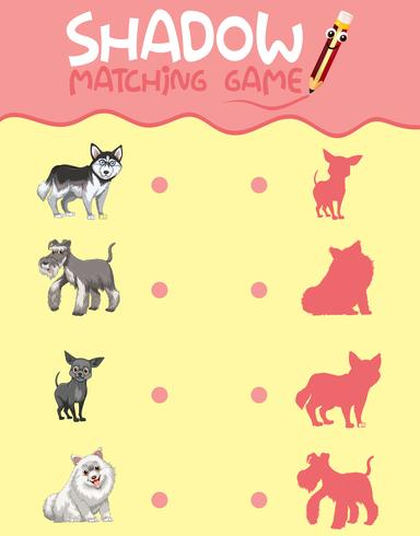 Shadow matching game template