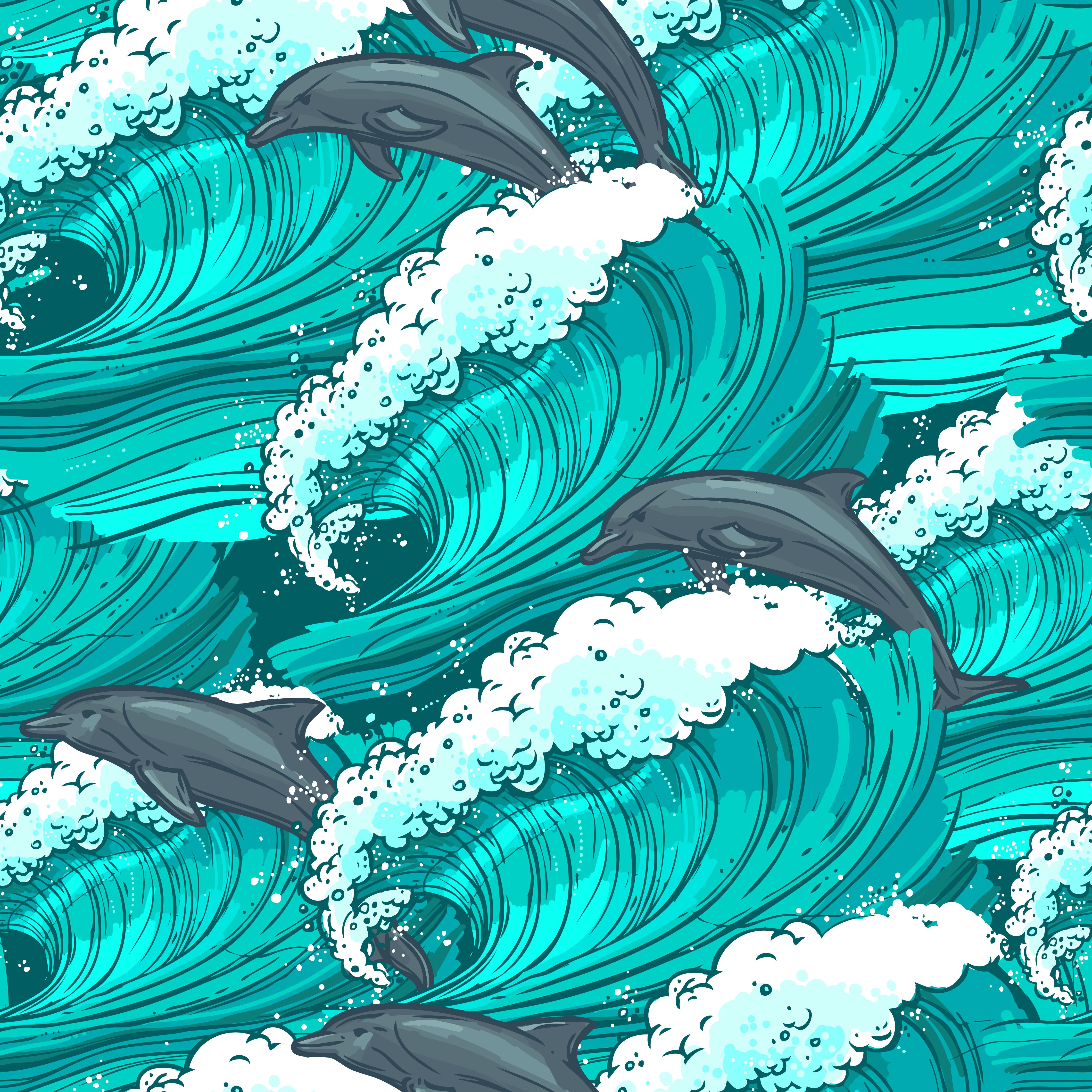 Sea waves seamless pattern 445065 - Download Free Vectors ...  Ocean Water Pattern