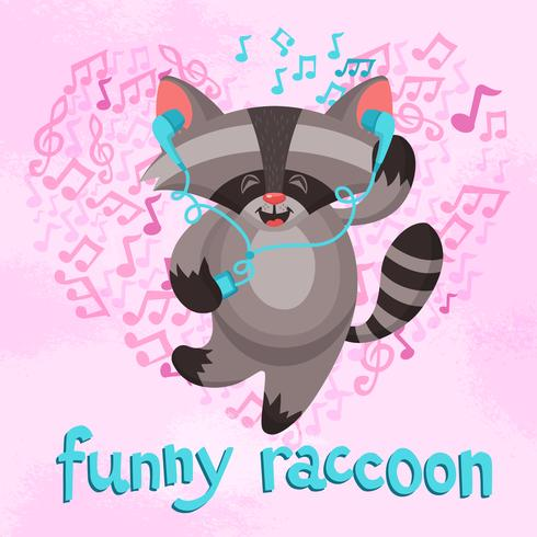 Funny Raccoon Poster