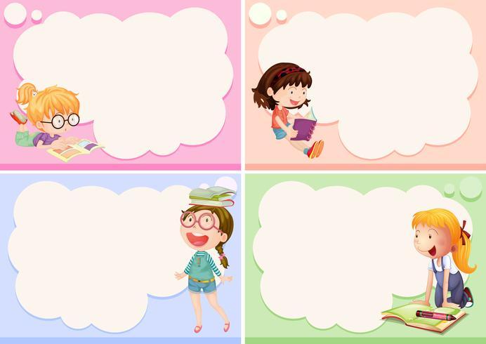 Four Girls Clipart