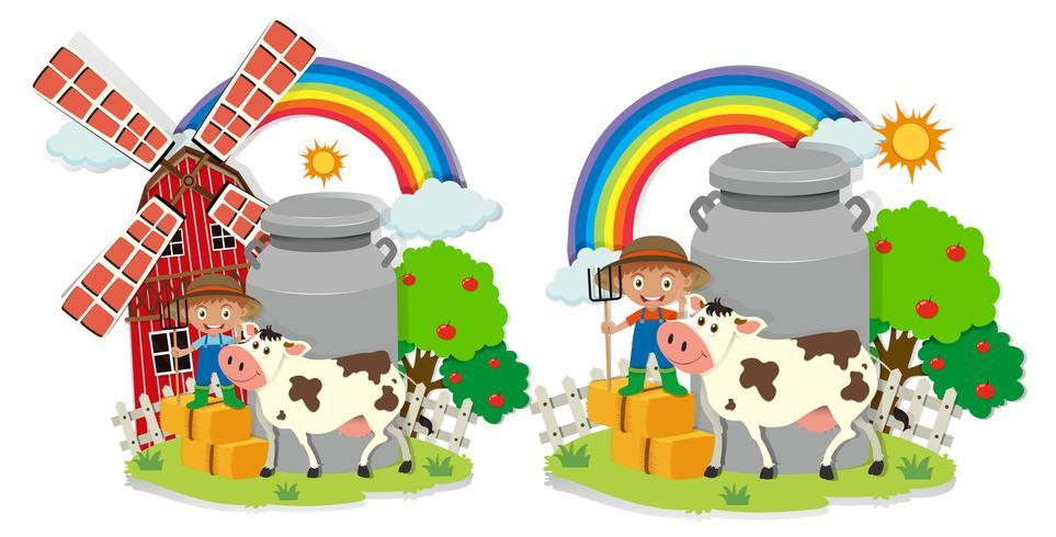 A set of milk farm