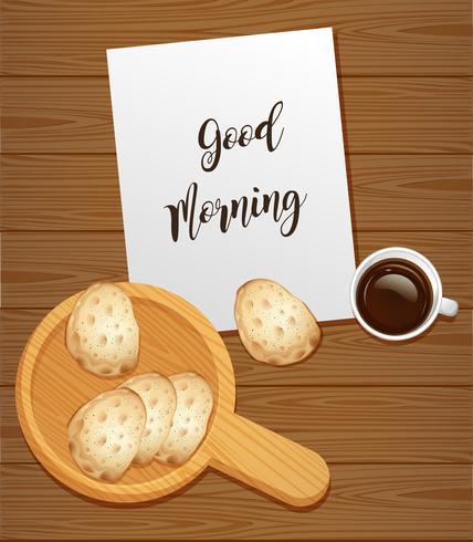 Pain et café pour le petit déjeuner
