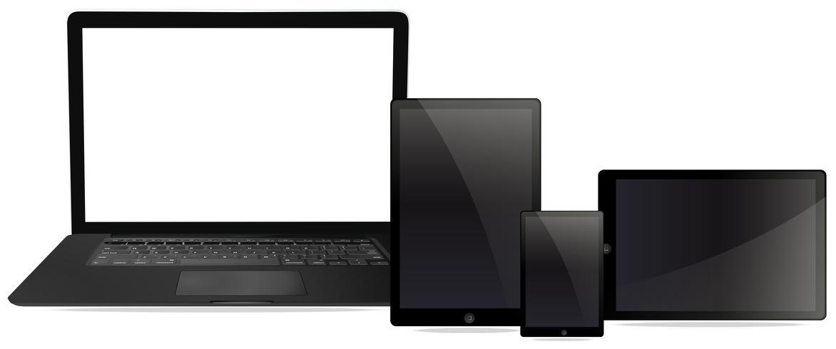 Un conjunto de compueter y tablet.