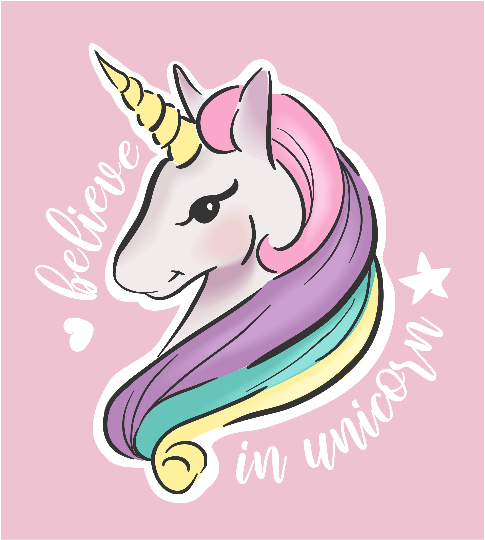 cute cartoon unicorn illustration  download free vectors