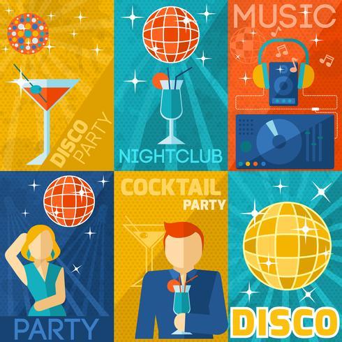 Set de pósteres del club nocturno
